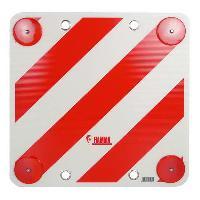 Disque Et Autre Adhesif De Signalisation PLAQUE DE SURCHARGE EN METAL AVEC CATADIOPTRE 50X50CM Generique