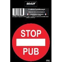Disque Et Autre Adhesif De Signalisation STOP PUB Adhesif pre-decoupe - 7 cm - Resistant UV Intemperies - Stickzif