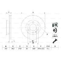 Disques De Frein BOSCH Disque de frein Unitaire BD1157 0986479294