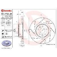 Disques De Frein BREMBO Disque de frein 09.A752.20