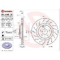 Disques De Frein BREMBO Disque de frein unitaire 09.A448.21