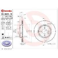 Disques De Frein BREMBO Jeu de 2 disques de frein vernis UV 09.8655.11
