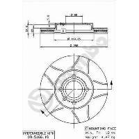 Disques De Frein BREMBO Jeu de disques de frein 09.5166.75