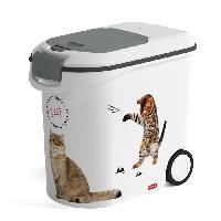 Distributeur D'aliment CURVER Conteneur a croquettes Love pets 12 Kg - Blanc - Pour chat