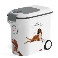 Distributeur D'aliment CURVER Conteneur a croquettes Love pets 12Kg - Blanc - Pour chien
