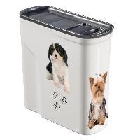 Distributeur D'aliment CURVER Verseuse 2L décor chien - Blanc