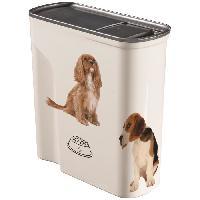 Distributeur D'aliment CURVER Verseuse 6L décor chien - Blanc
