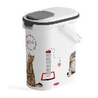 Distributeur D'aliment CURVER Verseuse a croquettes Love pets 4 Kg - Blanc - Pour chat