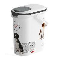 Distributeur D'aliment CURVER Verseuse a croquettes Love pets 4 Kg - Blanc - Pour chien