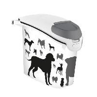 Distributeur D'aliment Conteneur a croquettes empilable 6kg - Blanc - Pour chien