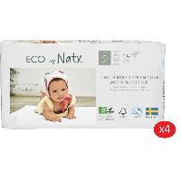 Distributeur De Couches NATY - Lot de 4 paquets de couches Taille 2 Mini 3-6 kg 33 pcs