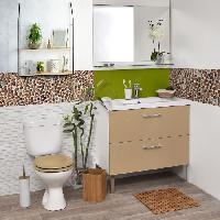 Distributeur De Savon - Porte Savon - Accessoire Porte savon - Plastique - bambou - H2.5 x l12.5 x P9.5 cm - Aucune