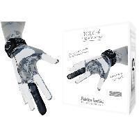 Doigt Vibrant Rechargeable Touche L -noir-gris-