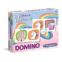 Dominos CLEMENTONI Domino - Licornes - Jeu educatif