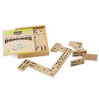 Dominos JEUJURA Jeu De Grands Dominos En Bois - Coffret En Bois - Fisher Price PuÉriculture