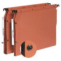 Dossier Suspendu - Sous-dossier Boite de 10 dossiers suspendus L'Oblique Ultimate - pour tiroir -A4 -D1530 -Kraft orange