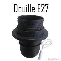 Douille D'ampoule - Culot D'ampoule Douille E27 + interrupteur a tirette - Noir