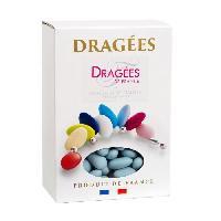 Dragees DRAGEES DE FRANCE Dragees Amande Marguerite 20 - Couleurs - bleue - Boite 1 kg