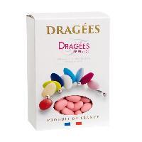 Dragees DRAGEES DE FRANCE Dragees Amande Marguerite 20 - Couleurs - rose - Boite 1 kg