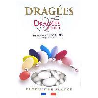 Dragees DRAGEES DE FRANCE Dragees Avola Trefles - Blanc - 28 d'amande - 1 kg