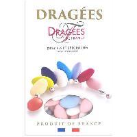 Dragees DRAGEES DE FRANCE Dragees Avola Trefles - Blanc. bleu et rose - 28 d'amande - 1 kg