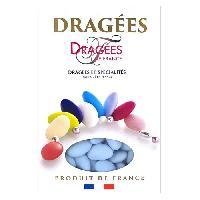 Dragees DRAGEES DE FRANCE Dragees Avola Trefles - Bleu - 28 d'amande - 1 kg