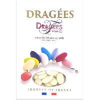 Dragees DRAGEES DE FRANCE Dragees Avola Trefles - Ivoire - 28 d'amande - 1 kg