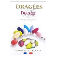 Dragees DRAGEES DE FRANCE Dragees Belle de nuit - Couleurs vives - 40 d'amande - 1 kg