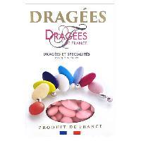 Dragees DRAGEES DE FRANCE Dragees Belle de nuit - Rose - 40 d'amande - 1 kg