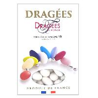Dragees DRAGEES DE FRANCE Dragees Marguerite - Blanc - 18 d'amande - 1 kg
