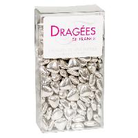 Dragees DRAGEES DE France - Petits Coeurs Chocolat - Argent 250G