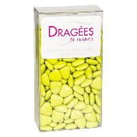 Dragees DRAGEES DE France - Petits Coeurs Chocolat - Vert Anis 250G