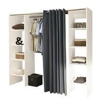 Dressing - Kit Amenagement De Placard DRESS UP Dressing extensible contemporain blanc mat - L 112 - 185 cm - Generique