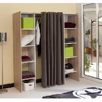 Dressing - Kit Amenagement De Placard DRESS UP Dressing extensible gris Taupe 2 colonnes