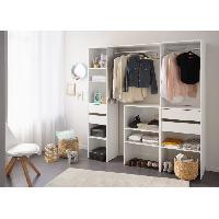 Dressing - Kit Amenagement De Placard EASY DRESS Dressing - Contemporain - Décor blanc - L 190 cm - Generique
