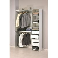 Dressing - Kit Amenagement De Placard SKIRT Kit placard 203cm blanc