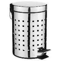 Droguerie Poubelle de salle de bain Cube en inox - 3 L - Gris