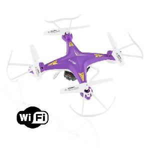 Drone PNJ Drone Aero 1 avec caméra intégrée - WiFi et VGA - Flip 360° - Radio-commande 30m