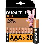 Duracell - NOUVEAU Piles alcalines AAA Plus. 1.5 V LR03 MN2400. paquet de 20