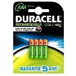 Duracell Piles Rechargeables AAA 900 mAh. lot de 4 piles