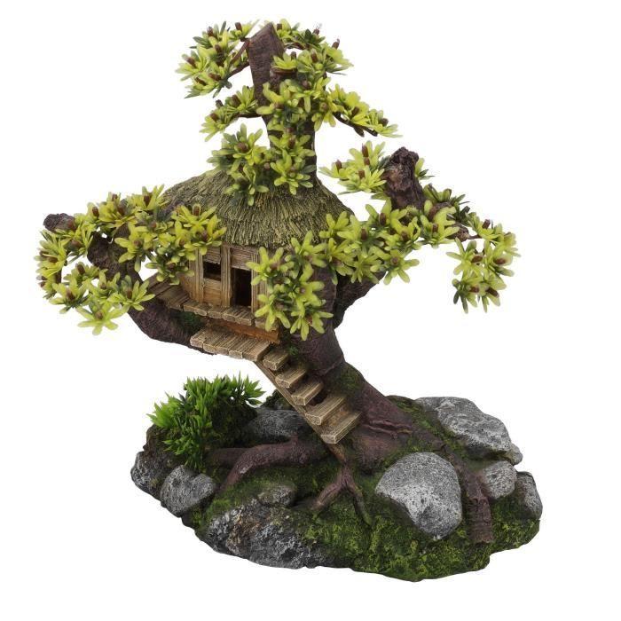 EBI-Decor-Arbre-cabane-avec-des-plantes-28x15x24-5-cm-Pour-aquarium
