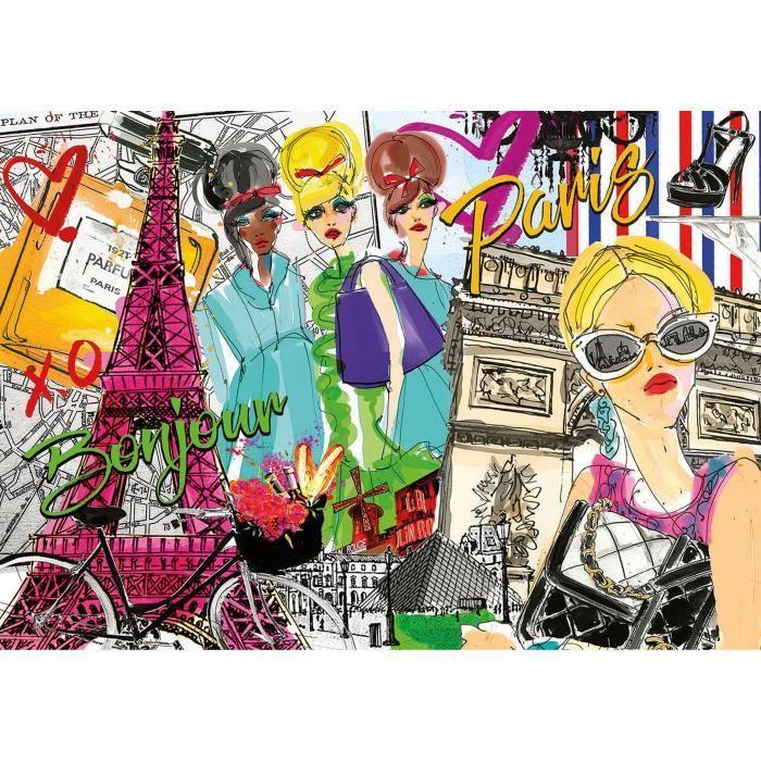 EDUCA-Puzzle-500-Emmene-Moi-A-Paris miniature 2
