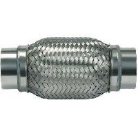 Echappements Raccord flexible Echappement type B - L250 - D63.5 - Avec sorties Inox soudees - ADNAuto