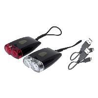 Eclairage Pour Cycle PERF Kit d'éclairage rechargeable USB avant et arriere - Generique