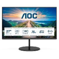 Ecran - Enceinte Ecran PC - AOC Q27V4AE - 27 QHD - Dalle VA - 4 ms - 75Hz - HDMI / DisplayPort