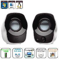 Ecran - Enceinte LOGITECH Enceintes PC 2.0 - Z120 - Haut-parleurs stereo - Blanc - 980000513
