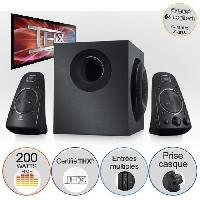 Ecran - Enceinte LOGITECH Enceintes PC avec Systeme de Haut-parleurs 2.1 - Z623 200W. Noir - 980000403