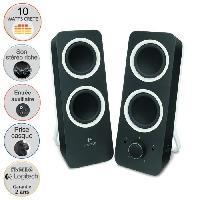 Ecran - Enceinte Logitech Z200 Speaker 2.0 Midnight Noir - Enceintes PC 10 watts