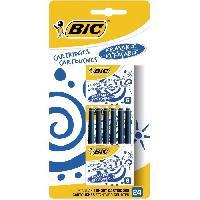 Ecriture - Calligraphie BIC Cartouches d'Encre Courtes Standard pour Stylos-Plume - Bleu Effacable. Blister de 24 Betadine