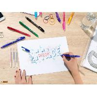 Ecriture - Calligraphie BIC Gel-ocity Illusion Stylos Effaçables Pointe Moyenne (0.7mm) - Couleurs Assorties. Boîte Cadeau Métal de 8